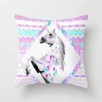 kris tate Throw Pillows featuring TWIN SHADOW by Vasare Nar and Kris Tate by Vasare Nar