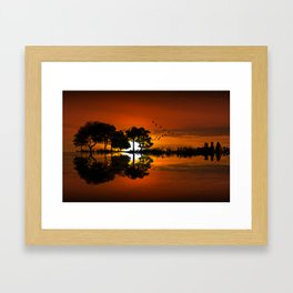 Guitarscape Sunset Framed Art Print