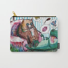 frog and owl in therapy Carry-All Pouch