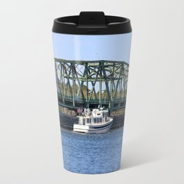 Swing Bridge And Boat Travel Mug
