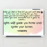 quotes iPad Cases featuring quotes by kawaiicookie