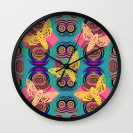 Butterfies Pattern QQ Wall Clock