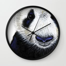 Panda Bear ' PANDA ' by Shirley MacArthur Wall Clock