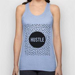 HUSTLE MODERN ART, Hustle Hard,Hustle Fashion Print,Hustle Decor,Motivational Quote,Office Decor,Dal Unisex Tank Top