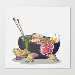 Ramen tortoise Canvas Print