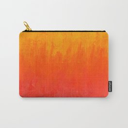 Coral, Guava Pink Abstract Gradient Carry-All Pouch