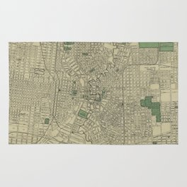 Vintage Map of San Antonio Texas (1909) Rug