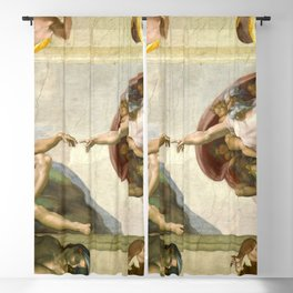 "Michelangelo ""Creation of Adam"" Blackout Curtain"