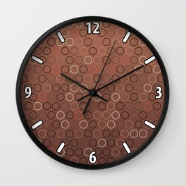 Tasty brown coffee chocolate background with circles Wall Clock