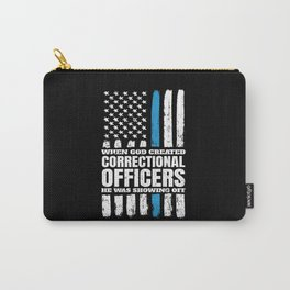 Christian Correctional Officers American Flag Carry-All Pouch