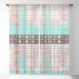 desert modernism Sheer Curtain