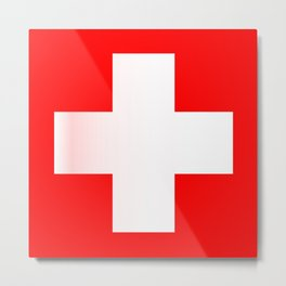 Swiss National Flag Metal Print