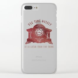 Timewise Vintage Clock Clear iPhone Case