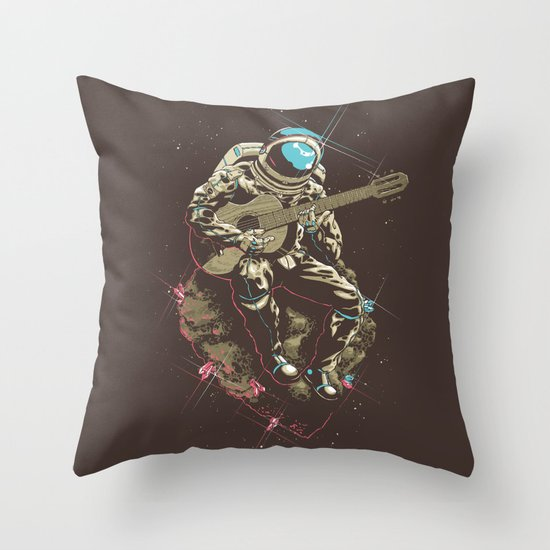 Lonely Man Throw Pillow