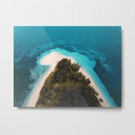 Tropical Beach in Fiji  Metal Print