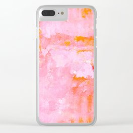 Pink Kiss Clear iPhone Case