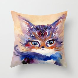 Lionmew Embarks on a Grand Adventure Throw Pillow
