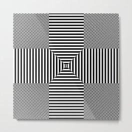 Insane Stripes Remix 2 Metal Print