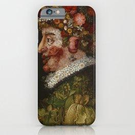 "Giuseppe Arcimboldo ""Four seasons - Spring"" iPhone Case"