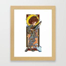 Tangled up in Blue Framed Art Print