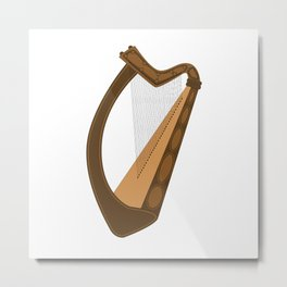 Irish Harp Metal Print