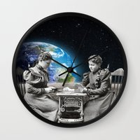 card Wall Clocks featuring Card Game by Cs025