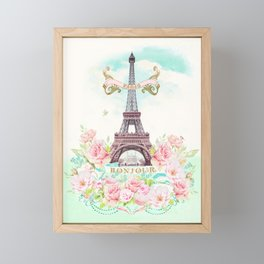 Eiffel Tower in Spring Framed Mini Art Print