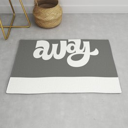 home/away ambigram Rug
