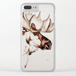 Deer | Scandinavian Moose Clear iPhone Case