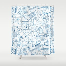 School chemical #4 Shower Curtain