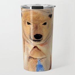 ours blanc Travel Mug