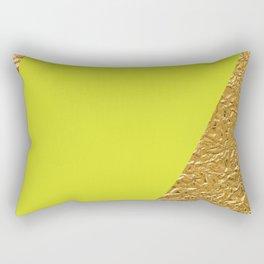 Green and Gold Rectangular Pillow