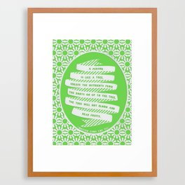 A person is like a tree Framed Art Print