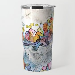 Splashes Of Stained Glass by CheyAnne Sexton Travel Mug