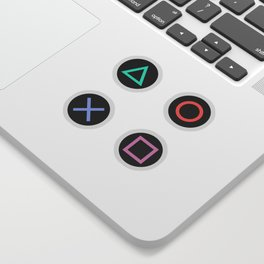 Play with Playstation Controller Buttons Sticker