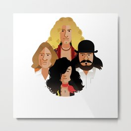 john-paul-robert-john-jimmy-1975 Metal Print