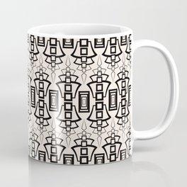 Art Deco 12 . Black and beige pattern . Coffee Mug