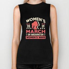 Women's March Washington DC Shirt Womens Wave January 2020 Biker Tank