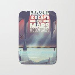 Explore the Southern ice caps of Mars Hidden Lakes. Bath Mat