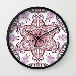 Lilac Beauty Wall Clock