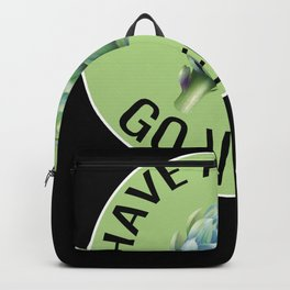 Go Vegan Quote with Artichoke Backpack