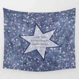starry sky pacific northwest haiku Wall Tapestry