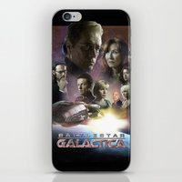 battlestar iPhone & iPod Skins featuring BATTLESTAR GALACTICA POSTER by tanman1