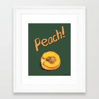 peach Framed Art Prints featuring Peach by Ken Coleman