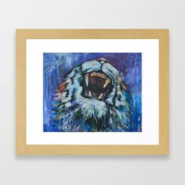 Tigers Roar Framed Art Print