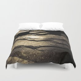 Brown Upstate New York Cave Art Duvet Cover