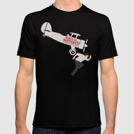 North by northwest, Alfred Hitchcock minimalist movie poster, thriller, Cary Grant, Eva Marie Saint T-shirt