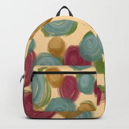 Abstract Floral Print - Summer Garden Backpack