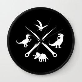 Hipster Dinosaurs Logo Wall Clock