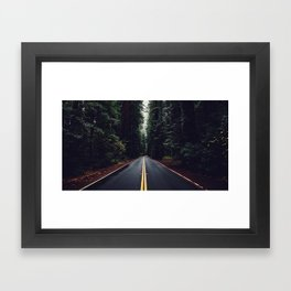 The woods have eyes Framed Art Print
